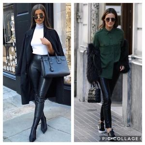 Zara Blogger Fave High Waist Faux Leather Leggings